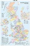 "GB eye ""UK Map, Political"" Maxi Poster, Multi-Colour, 61 x 91.5 cm"