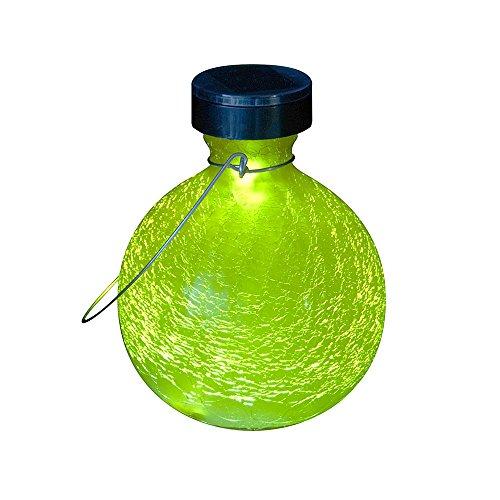 Achla Designs Goblet Solar Lantern Garden Light, Yellow Garden Goblet