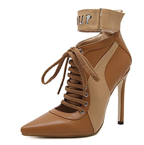 brown Strap mode New Mid Shoes Chaussures Womens Ladies Court Taille Work Smart Heel de Pump Casual MNII EaSqwS