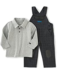 Baby Boys' Patched Overall with Polo Top Set
