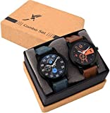 FANCY Combo Quartz Analogue Black Dial Watch for Boys and Girls - Set of 2