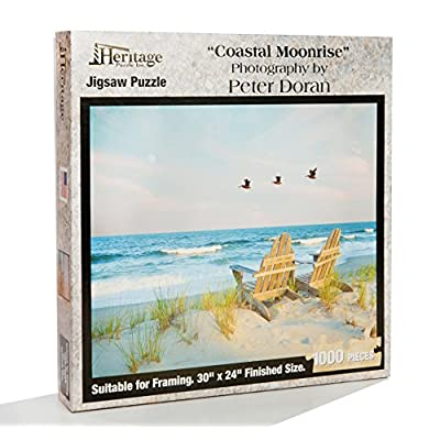 Heritage Puzzle Coastal Moonrise by Peter Doran - 1000 Pieces - Size: 30