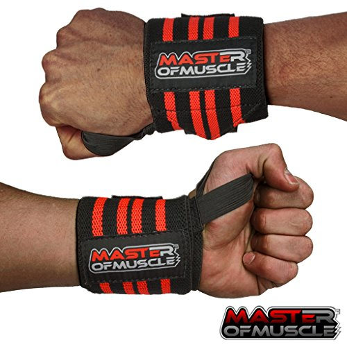 Wrist Wraps - Straps Your Wrists So You Can Smash Your Lifting Workout - Elastic Wrist Support For Weightlifting, BodyBuilding, Bench Press, Gym and More - For Women and Men - BONUS Powerlifting Guide