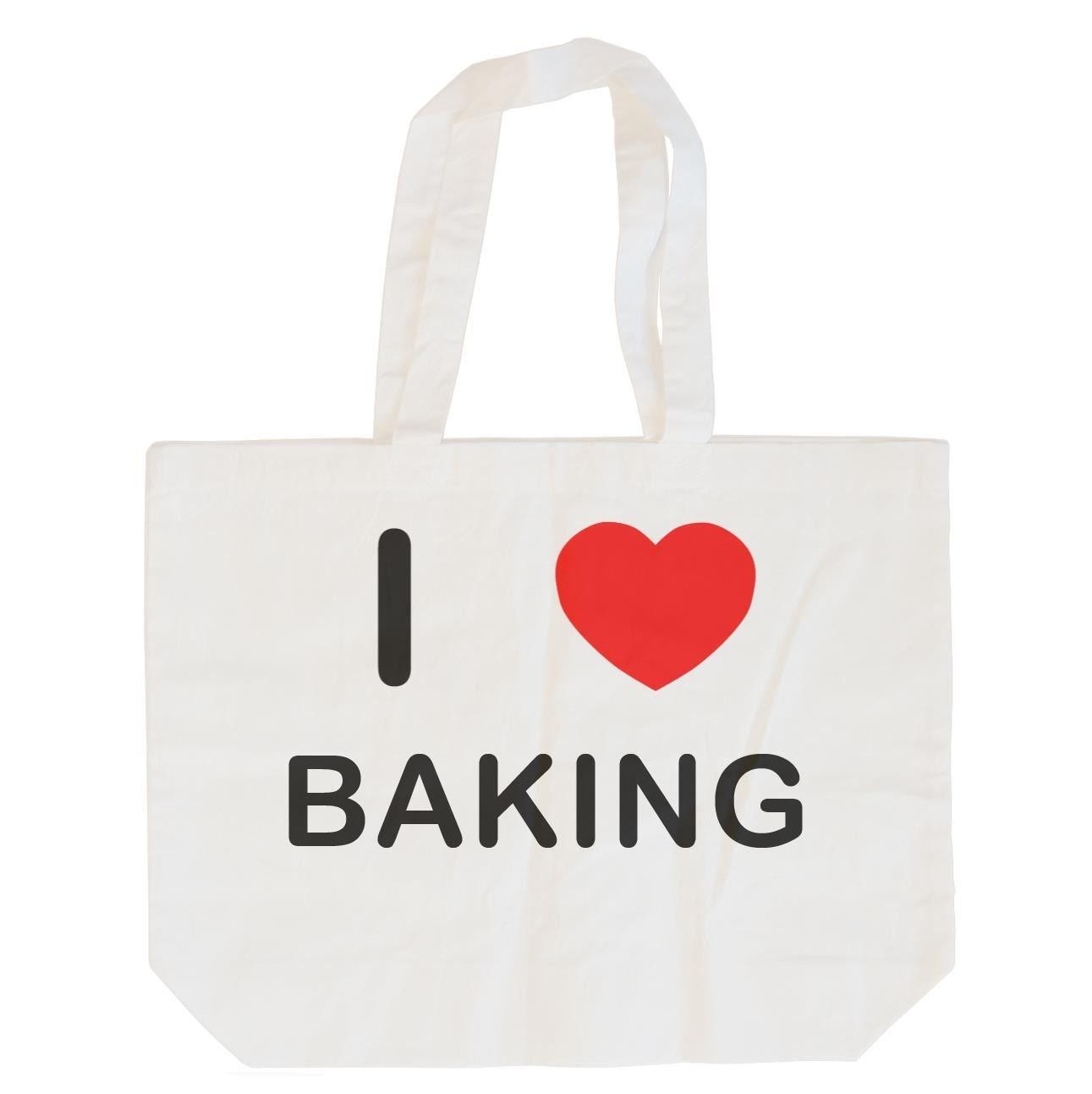 I Love Baking Cotton Long Handle Sling Bag