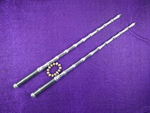 Kung Fu Double whips/Chinese martial arts equipment/Whole stainless steel production/One Pair
