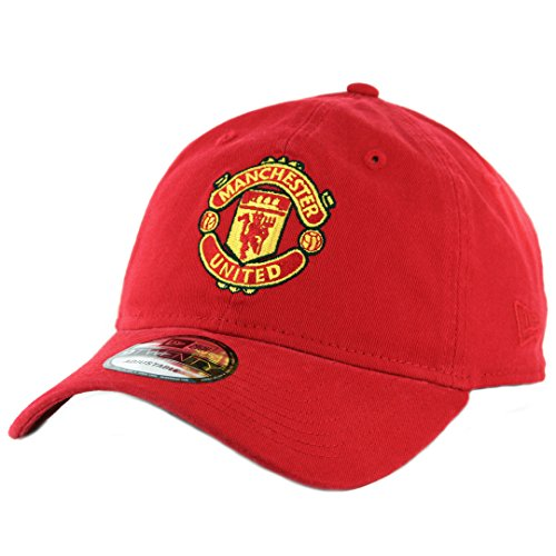 Manchester United Hat - New Era 920 Manchester United Strapback Hat (Red) Men's Soccer Football Dad Cap