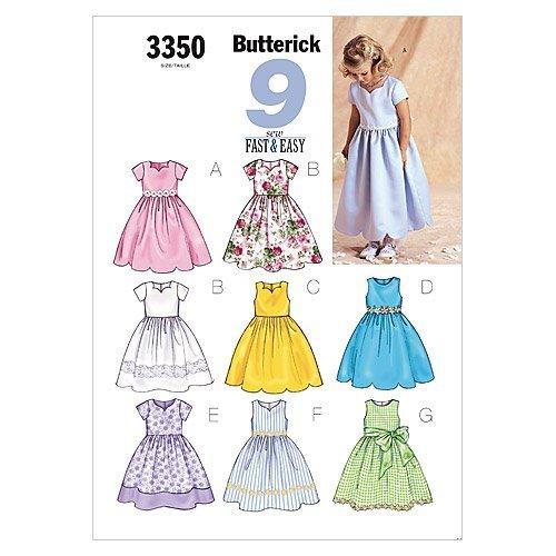 BUTTERICK PATTERNS B3350 Children's/Girls' Dress, Size 2-3-4-5 ()