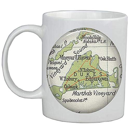 Fashion Coffee Mug,Martha'Vineyard Fashion map Mug,map jewelry resin Mug,map Coffee Mug photo Mug,A0317]()