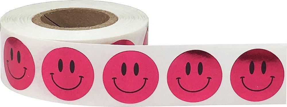 Regenbogen Gl/ücklich Gesicht Kreis Punkt Aufkleber 500 Etiketten auf einer Rolle 19 mm 3//4 Zoll Runde