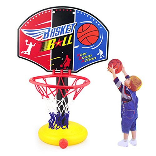 TOPSHION Children's Basketball Shooting Toys Can Rise and Fall Basketball Stand Shooting the Ball for Kids