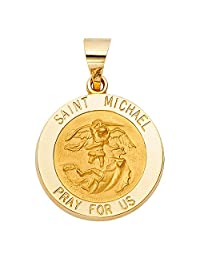 14k Yellow Gold Religious St. Michael Pendant