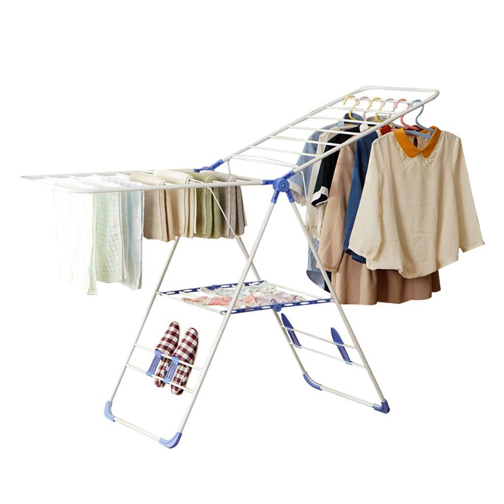 新しい折り畳み式衣類ハンガー乾燥機スタンドハンガー乾燥ラック衣類収納オーガナイザーコートラック B07MV6285P