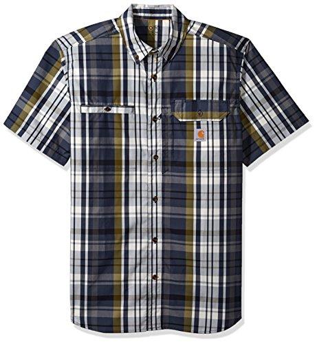 Carhartt Men's Force Plaid Ridgefield Short Sleeve Shirt (Regular and Big & Tall Sizes), Navy, ()