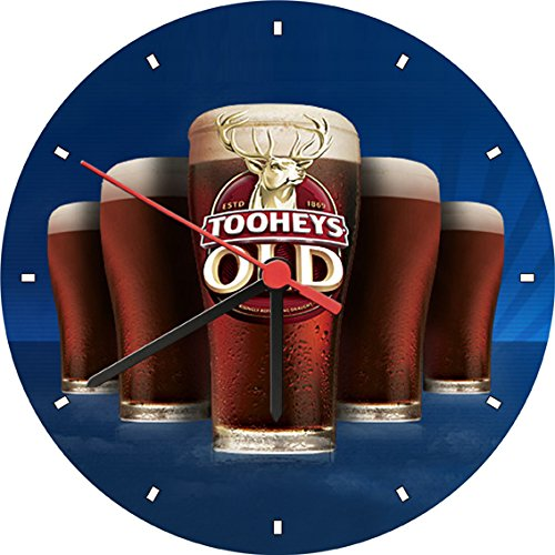 tooheys-old-black-ale-beer-glass-wall-clock