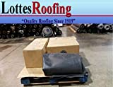 10' x 30' 45 Mil Black EPDM rubber roofing