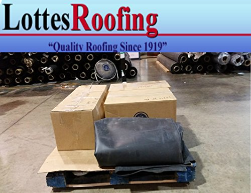 20' x 25' 60 Mil Black EPDM rubber roofing by Lottes Roofing