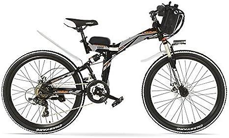 LANKELEISI K660 24 Pulgadas, Bicicleta eléctrica Plegable de 48V ...