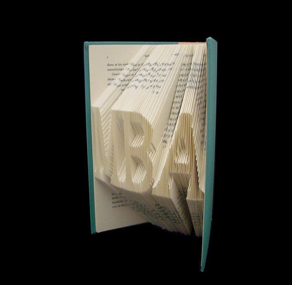 choose three letters MBA ~ 3 Letters ~ Master of Business Administration ~ Graduation Gift ~ Folded Book Art Sculpture