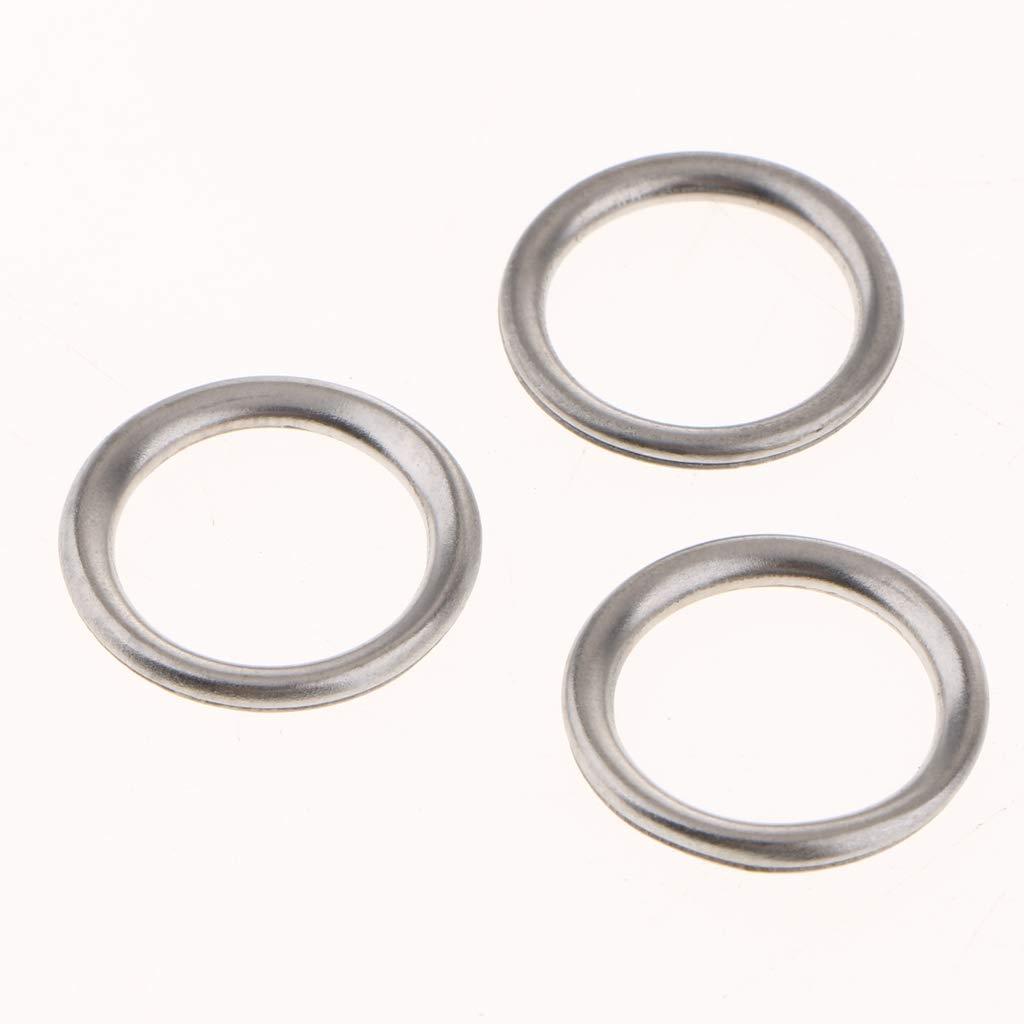 kesoto 50PCS M14 Aluminum Oil Crush Washers//Drain Plug Gaskets Compatible with Mitsubishi V5 V6 MD050317