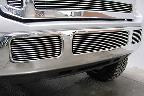 GrillCraft FOR1355-BAO BG Series Polished Aluminum Tow Hook 2pc Billet Grill Grille Insert for Ford Excursion F250 Super Duty (Grill Custom compare prices)