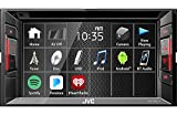 JVC Multimedia Receiver w/ WVGA Clear Resistive Touch Monitor, 6.2' (KW-V240BT)