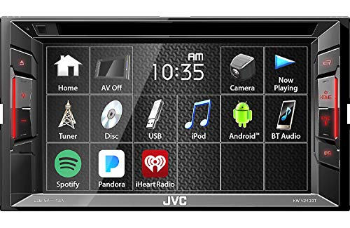 JVC Multimedia Receiver w/ WVGA Clear Resistive Touch Monitor, 6.2
