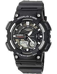 Men's AEQ110W-1AV Analog and Digital Quartz Black Watch