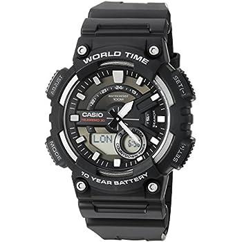 Casio Mens AEQ110W-1AV Analog and Digital Quartz Black Watch