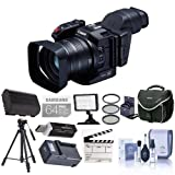 Canon XC10 Ultra High Definition 4K Professional Camcorder, - Bundle With 64GB Class 10 U3 SDXC Card, Spare Battery, Video Bag, 58mm Filter Kit, Video Light, Card Reader, Tripod And More
