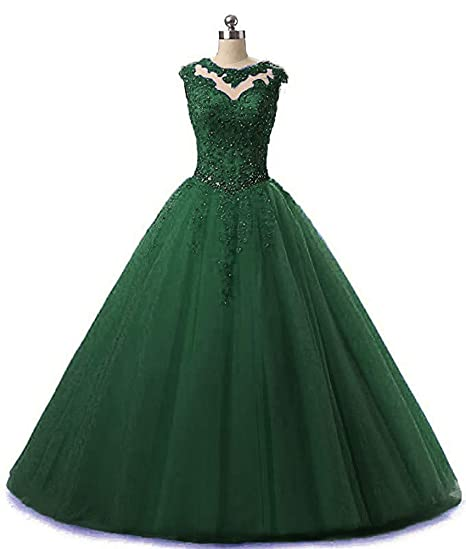 902db8e65a EileenDor Women's Lace Appliques Sleeveless Ball Quinceanera Dresses ...