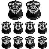 Breathable Seamless Tube Skull Face Mask, Motorcycle Bicycle Face Mask (black-10 pcs)