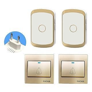 SM SunniMix Timbre de Puerta para Inalámbricas Accesorios de Protección Exterior para Impermeables - 3 receptores + 1 transmisor