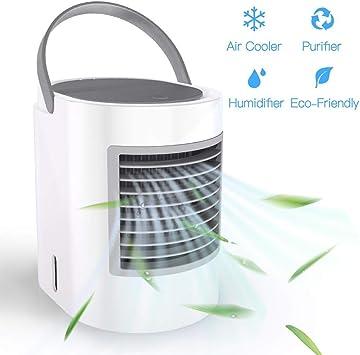 ACZZ Refrigerador, 3 en 1 Mini silencioso Aire acondicionado ...