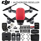 DJI Spark Portable Mini Drone Quadcopter Fly More Combo Water Proof Hard Case Bundle (Lava Red)