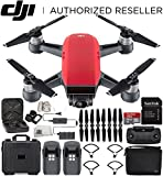 DJI Spark Portable Mini Drone Quadcopter Fly More Combo Water Proof Hard Case Bundle (Lava Red) For Sale
