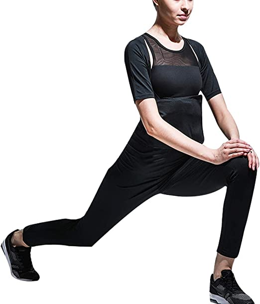 Denise Lamb Pantalon de Perte pour la Transpiration des Femmes Sportives Amincissant la Ceinture Yoga Fitness Running