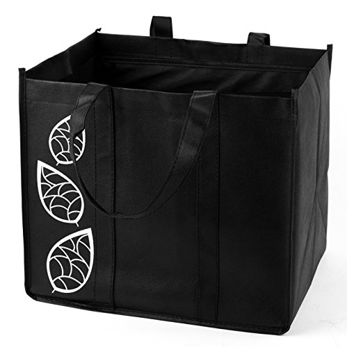 Bekith 5 Piece Large Collapsible Shopping Bags Set,Black ...