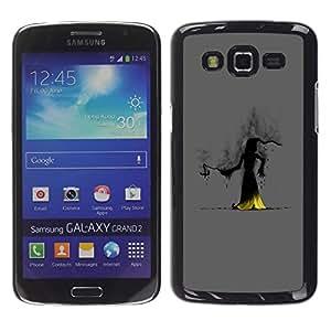 Smartphone Rígido Protección única Imagen Carcasa Funda Tapa Skin Case Para Samsung Galaxy Grand 2 SM-G7102 SM-G7105 Wizzard Witch Smoke Hood Fairytale Story Cartoon / STRONG