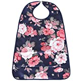 MagiDeal PVC Waterproof Adult Mealtime Bibs Disability Clothes Clothing Protector Washable Wipe Clean - 9, one size