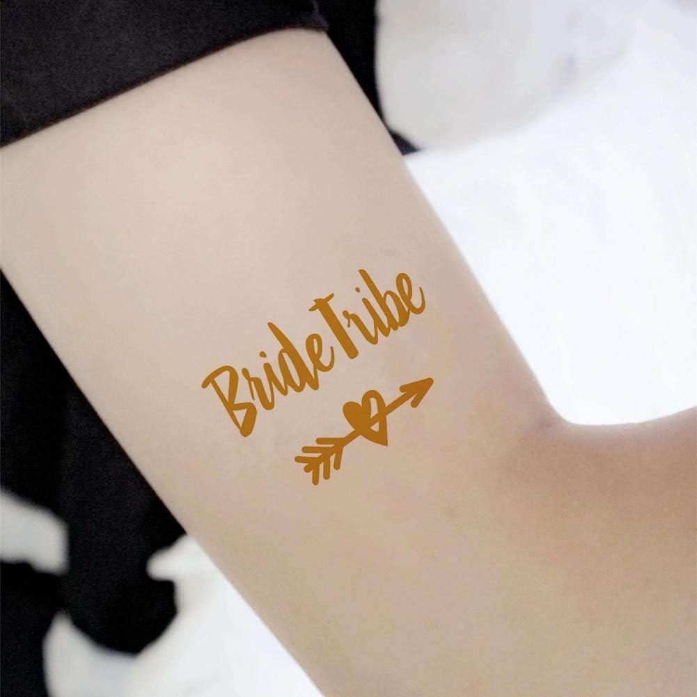 Xiton 10Hoja Novia Temporal tatuaje Bachelorette Accesorios para ...