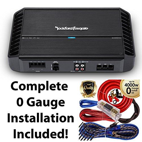 Rockford Fosgate P1000X1BD 1000W RmS Punch Series Monoblock Class BD Car Power Amplifier + 0 Gauge Amp Kit