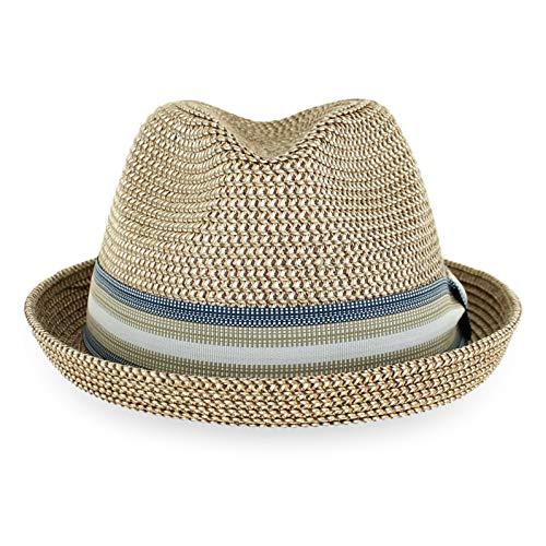 Plastic Trilby Hats - Belfry Men Women Straw Trilby Summer