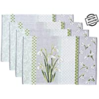 "Avira Home Placemats Set, 13""x19"", Set of 4, Blended..."