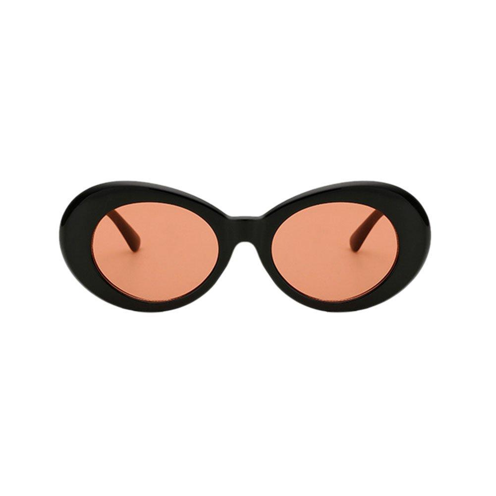 Yefree Lunettes de soleil ovales mod style rétro épaisse lunettes de mode - 9 choix de couleurs FKWs7Ke