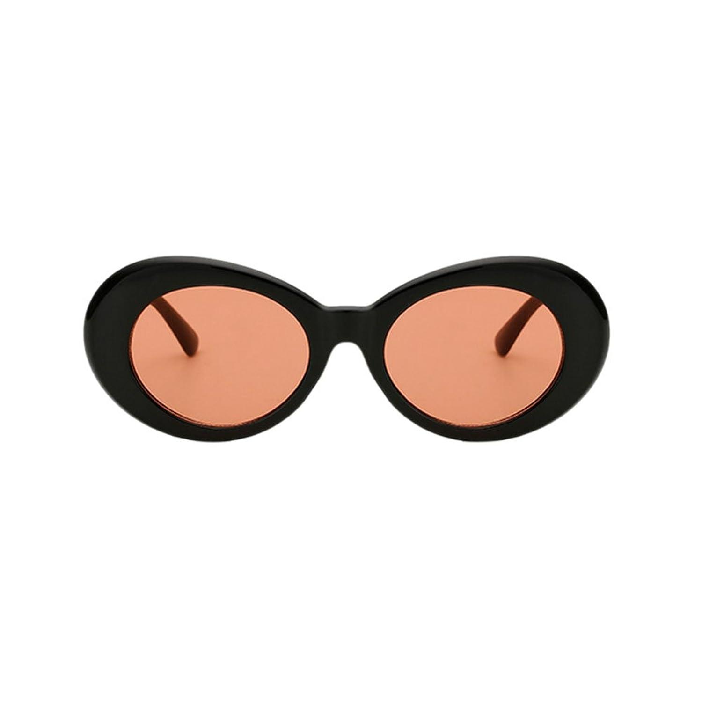 Meijunter Lunettes de soleil Hommes Femmes Retro Style Lunettes rondes Oval Lunettes de soleil UV400 REeOAsgp