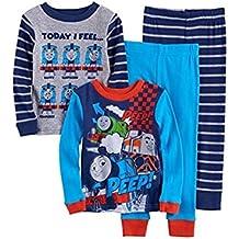 Boys Thomas Train Pajama Set 4 Piece Set Long Sleeve Pants 3T 4T (3T)