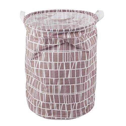 MOPOLIS Large Laundry Hamper Bag Home Clothes Storage Canvas Barrel Kids Toy Storage (Model - ()