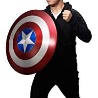 Escudo Capitan America Metal Accesorios De Mano con Escudo De Réplica De La Serie Miracle Legend, Textura De Metal 1: 1…