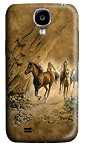 Samsung Galaxy I9500 Case,Sacred Passage Horse Custom PC Hard Case Cover for Samsung Galaxy S4/I9500 3D