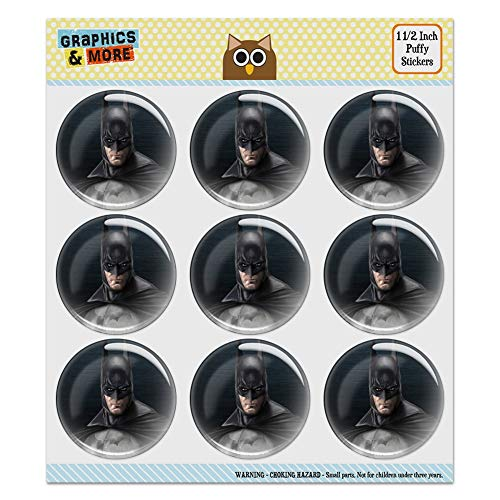 Batman Arkham Asylum Video Game Puffy Bubble Dome Scrapbooking Crafting Sticker Set